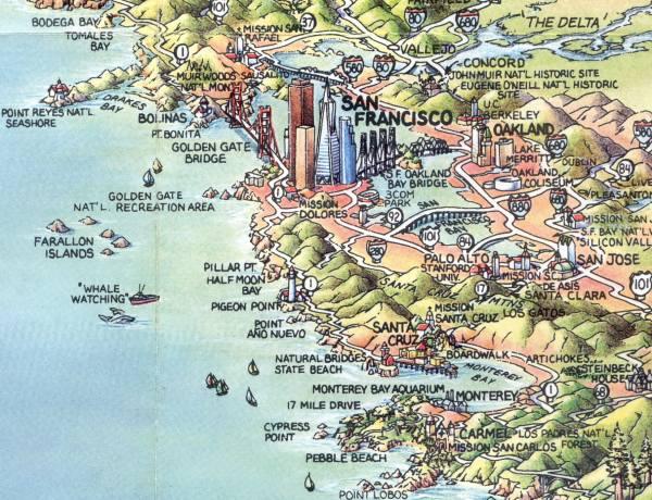 Map Of California - Mapa de california usa